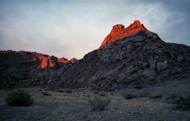 Священная гора Кежиге на закате. Эрзинский кужуун. Тыва. 7.09.2007