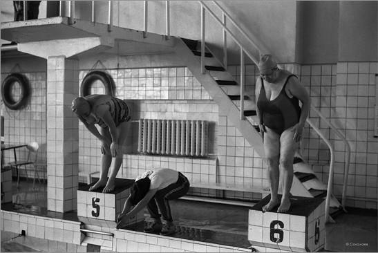 Группа здоровья в бассейне Родник. Новокузнецк. 5.04.1983