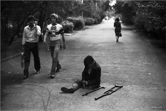 Вечер на проспекте Энтузиастов. Новокузнецк. 8.08.1983