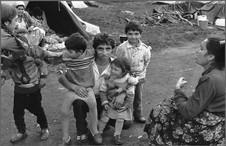 Портрет на улице с племянниками