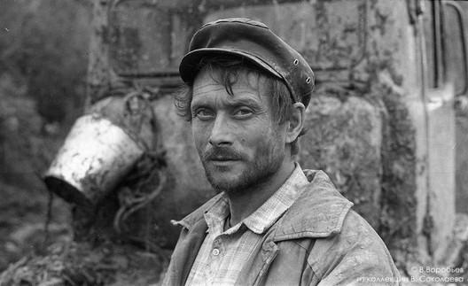Тракторист буровой бригады. Горная Шория. 1983