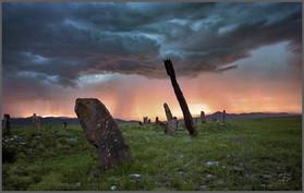 Гроза над Уйбатским чаатасом. Минусинская котловина. Хакасия