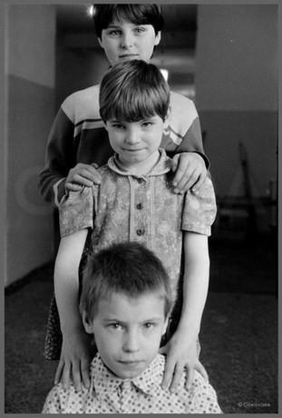 Буцукины - Оля, Аня и Василий. 15.04.1987