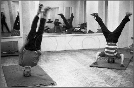 Любители рок-н-ролла. Танцевальная студия на улице Орджоникидзе. Новокузнецк. 12.02.1988