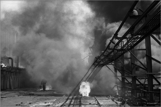 Люковая площадка коксового цеха. Кузметкомбинат. 15.05.1981