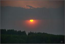Взгляд Бога. Выход солнца из-за тучи. Новокузнецк. 10.05.2009