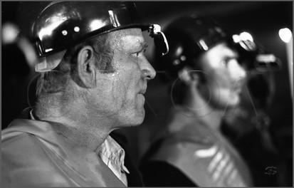 Юбиляры. Участники юбилейной плавки в честь выпуска 200.млн. тонн стали. Конвертерный цех Запсиба. Новокузнецк. Март 1980.