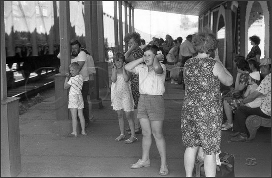 Остановочная плотформа «Зенковский парк». Прокопьевский район. 13.07.1985