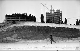 Снежная горка на улице Кирова. Новокузнецк. 1.01.1981