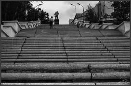 Лестница к Дому культуры железнодорожников. Улан-Удэ. Бурятия. 6.09.1982