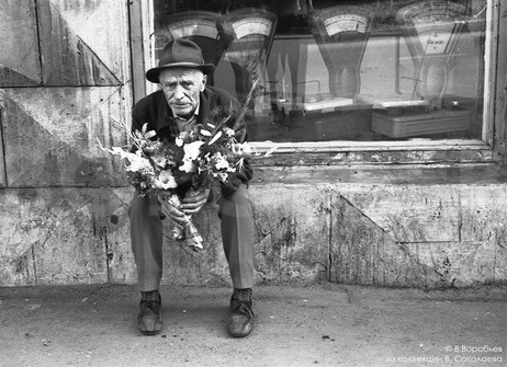 Продавец букетов. Новокузнецк. 1980