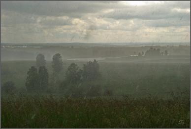Внезапный дневной ливень. Окрестности поселка Северный. Новокузнецкий район. 14.07.2010