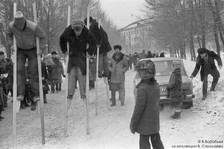 Праздник Масленицы у шахтеров.  Новокузнецк. 1984
