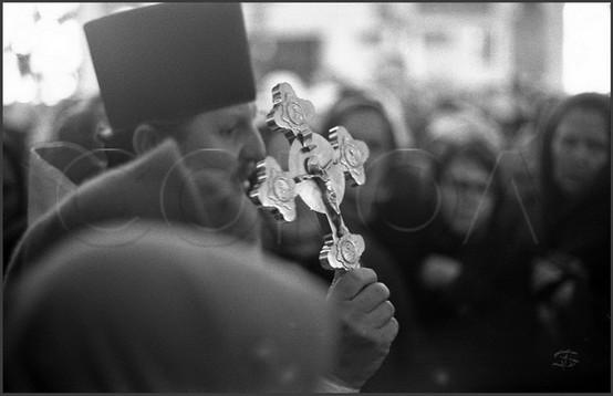 Настоятель храма о. Василий Булгаков. Отпуст. 20.04.1985