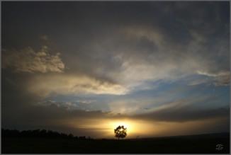 Закат над Зеленой Горкой. Окрестности Новокузнецка. 21.05.2009
