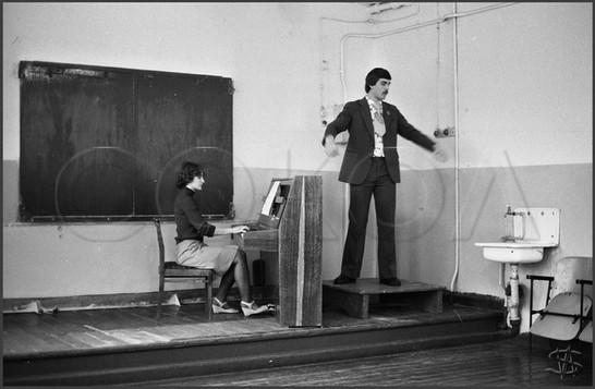 Экзамен по хоровому дирижированию. Музыкальное училище. 12.01.1981