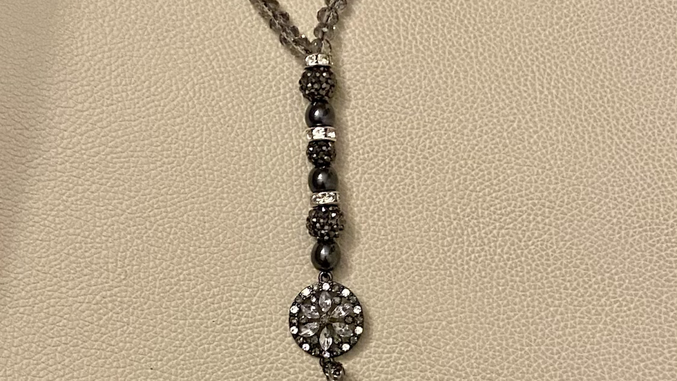 Crystal pendulum necklace or wrap around wrist- ONLY ONE EXCLUSIVE RARE PIECE