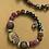 Thumbnail: Cosmic Druzy rainbow turquoise purple gold silver bracelet(Gemneye brand)
