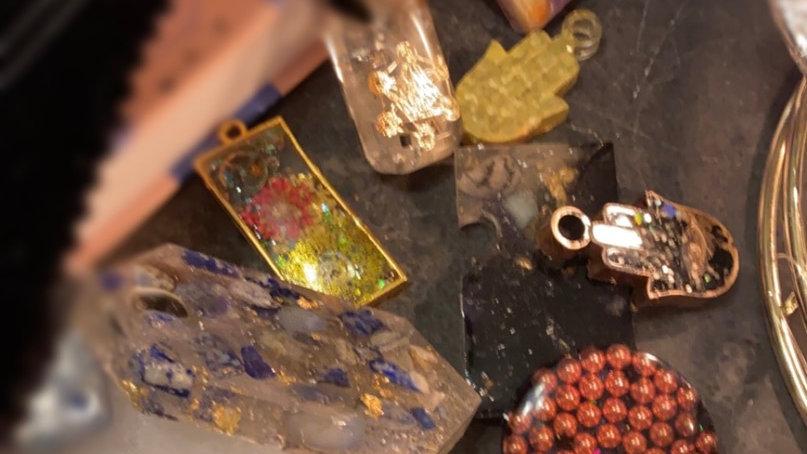 Healing protection copper orgonite. hamsa