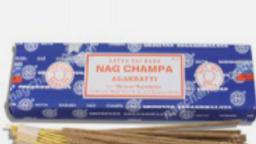 A box of Nag Champa Incense