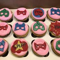 PJ Masks inspired cupcakes