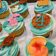 Moana inspired cupcakes