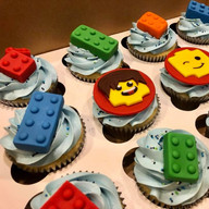 Lego inspired cupcakes
