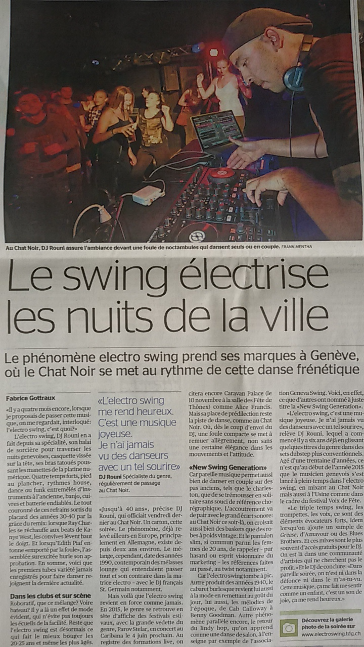 Article Tribune de Genève du 23.5.15