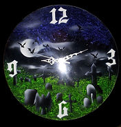 An original 78rpm EP with airbrush design grave scene