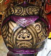 Airbrushed candy purple with Steampunk cogs