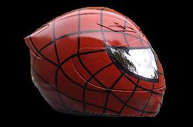 Spiderman crash helmet airbrush work