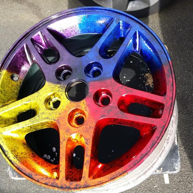 Candy rainbow wheel