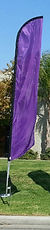 Apex rents purple feather flags in Colum