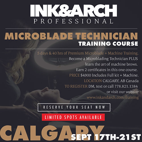 Calgary 5 day Microblading & Machine Brow Course September 17-21