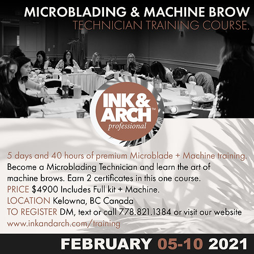 5 day Microblading & Machine Brow Course February 2021