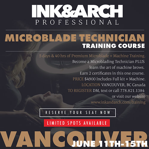 Vancouver 5 day Microblading &  Machine Brow Course June 11-15, 2021