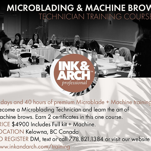 5 day Microblading & Machine Brow Course June 2021