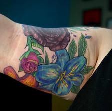 Neotraditional Floral Half Sleeve pt. 2