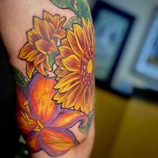 Neotraditional Floral Half Sleeve pt. 3
