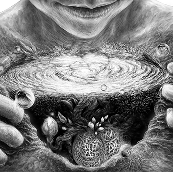 Growth - Surrealism Digital Drawing