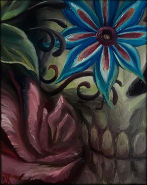 Sugar Skull and Rose - Dia de los Muertos