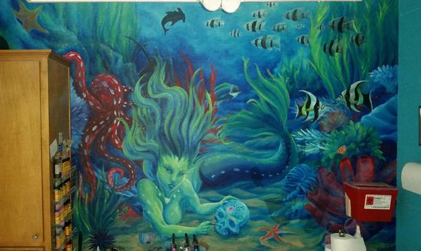 Mermaid and Marine Life