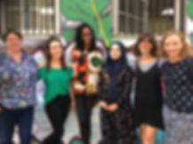 Womens team, L-R Hannah, Danii, Tonye, M