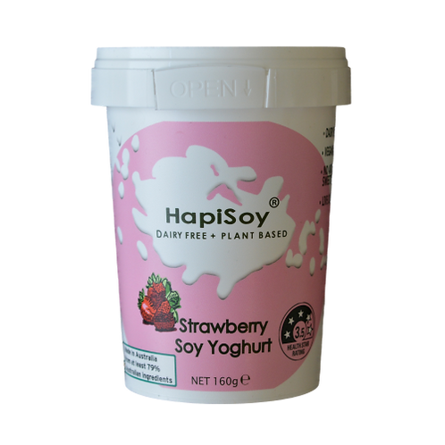 HapiSoy's Strawberry Soy Yoghurt
