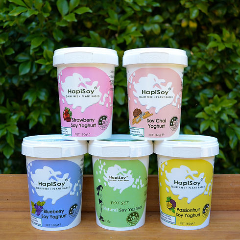 HapiSoy's Soy Yoghurts Full Range