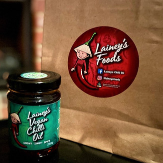 Lainey's Vegan Chilli Oil and Bag