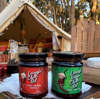 Lainey's Chilli Oil Jars Camping Setup