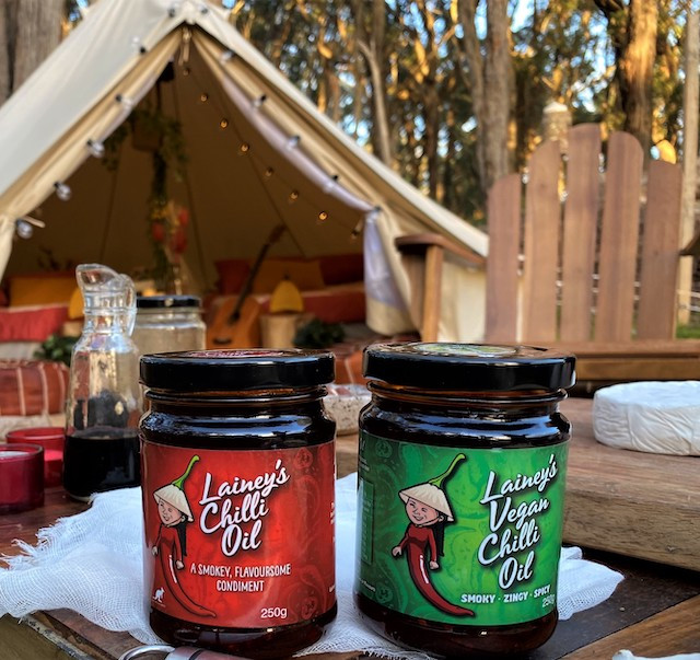 Lainey's Chilli Oil Jars Camping Setup
