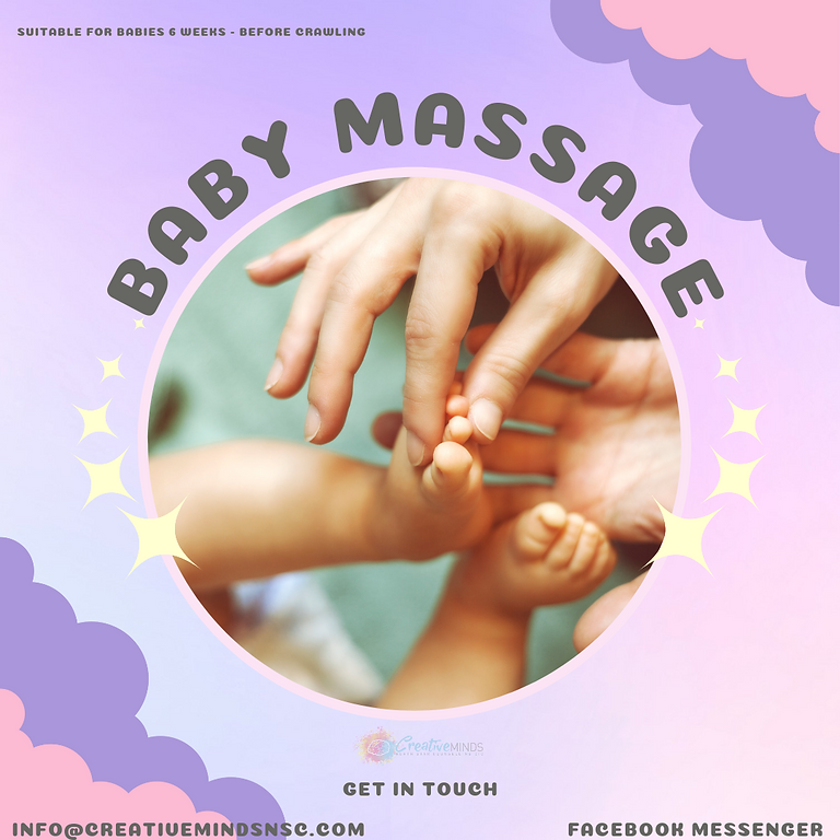 Baby Massage - Suitable for Babies 6 weeks to just before crawling