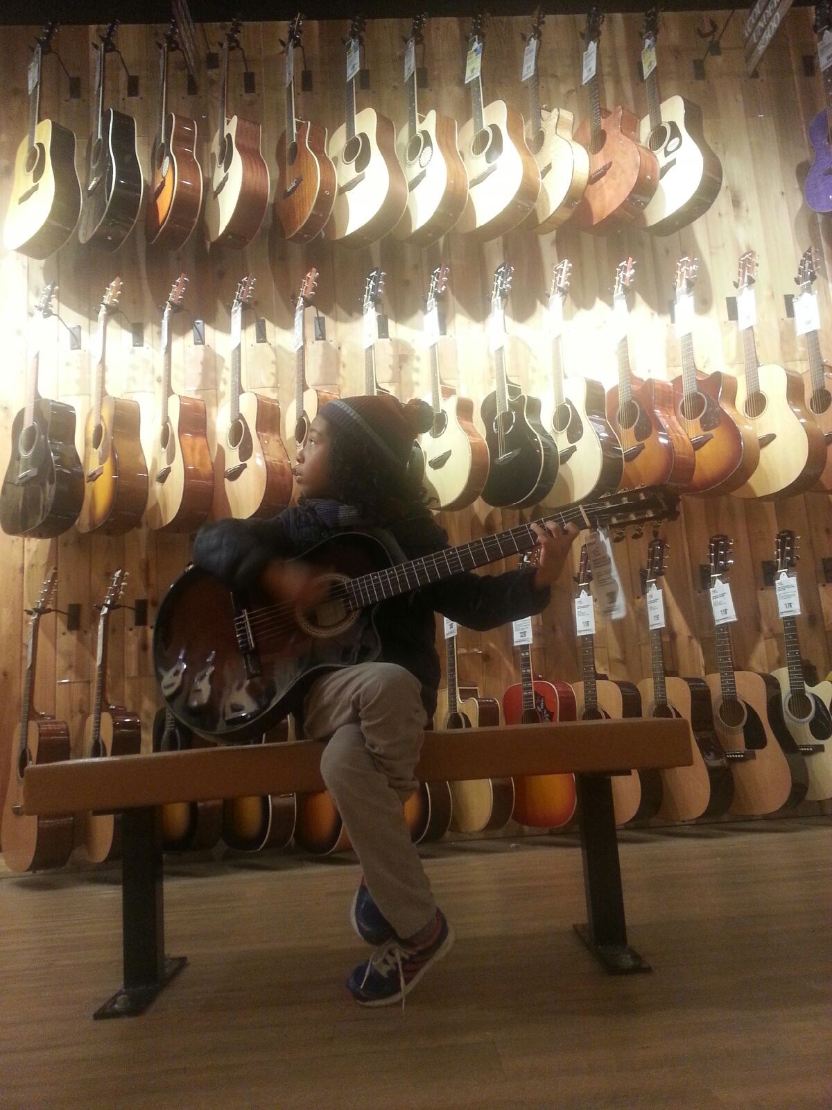 Marel at Guitar Center January, 21, 2016